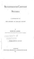 Seventeenth century Studies PDF