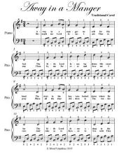 Away In a Manger Easy Piano Sheet Music In G Major