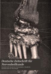 Deutsche Zeitschrift für Nervenheilkunde: Band 27