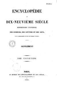 Encyclop  die du dix neuvi  me si  cle PDF