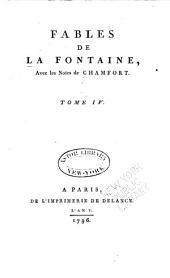 Fables de Fontaine avec les notes de Champfort: Volume2