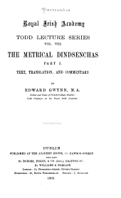 The metrical Dindsenchas: Volumes 1-2