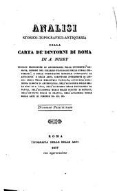 Analisi storico-topografico-antiquaria della carta de' dintorni di Roma: Volume 1