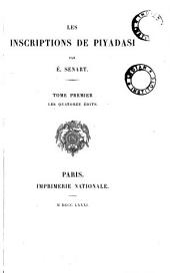 Les inscriptions de Piyadasi: Volume1