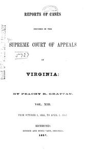 Cases Decided in the Supreme Court of Appeals of Virginia: Volume 54