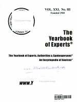 The Yearbook of Experts  Authorities and Spokespersons 2001 PDF