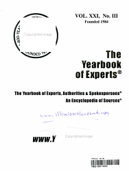 The Yearbook Of Experts Authorities And Spokespersons 2001 Book PDF