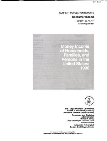 Money Income of Households  Families  and Persons in the United States PDF