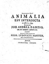 Animalia esu interdicta: ex Act. X. 12. seqq