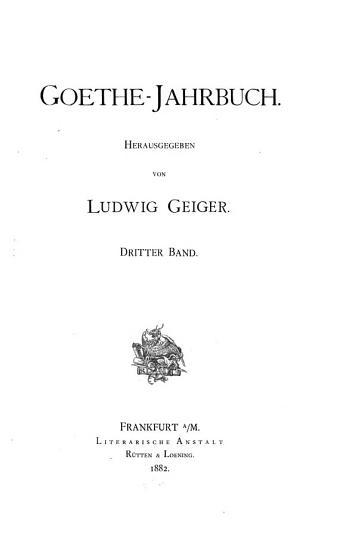 goethe jahrbuch PDF