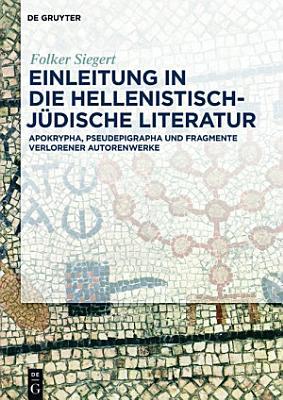 Einleitung in die hellenistisch j  dische Literatur PDF