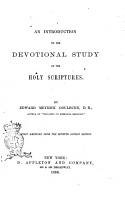 An Introduction to the Devotional Study of the Holy Scriptures PDF