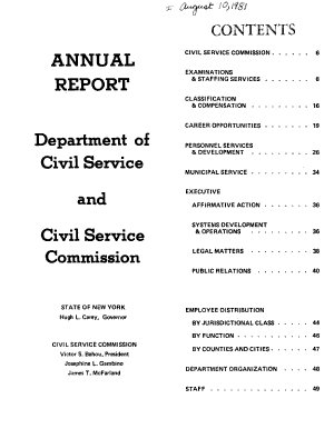 Annual Report of the New York State Department of Civil Service and Civil Service Commission PDF