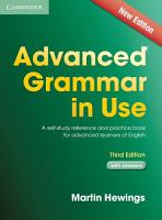 Advanced Grammar in Use with Answers PDF