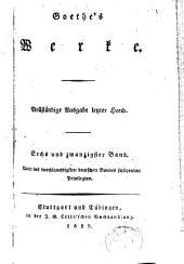 Goethe's Werke: Band 26