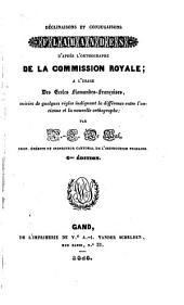 Déclinaisons et conjugaisons flamandes, d'après l'orthographe de la Commission royale...