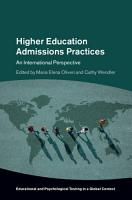 Higher Education Admission Practices PDF
