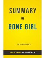 Gone Girl  by Gillian Flynn   Summary   Analysis PDF