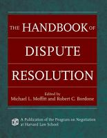 The Handbook of Dispute Resolution PDF