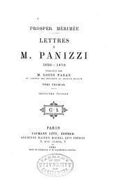 Lettres à m. Panizzi, 1850-1870: Volume1