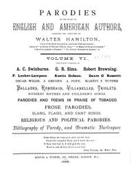 Parodies Of The Works Of English American Authors Book PDF