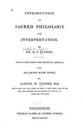 Introduction to Sacred Philology and Interpretation