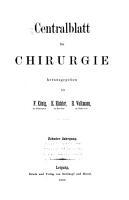 Centralblatt f  r Chirurgie PDF
