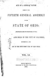 Acts of the State of Ohio: Volume 51
