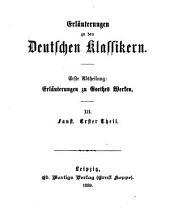 Erläuterungen zu Goethes Werken: Bände 12-14