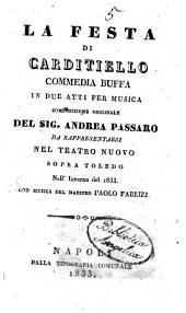 La festa di Carditiello: commedia buffa in due atti per musica