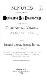 Report of the Annual Meeting of the Mississippi Bar Association