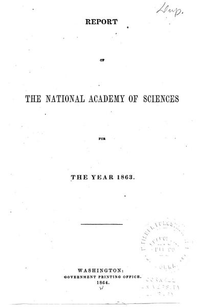 Report of the National Academy of Sciences PDF