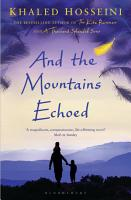 And the Mountains Echoed PDF