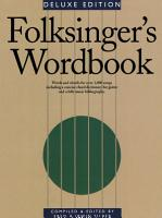 Folksinger s Wordbook PDF