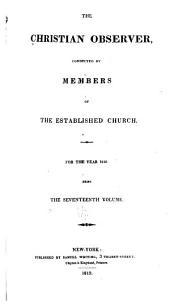 The Christian Observer: Volume 17