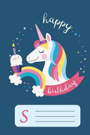 Happy Birthday Unicorn Notebook For Girls Letter Book S Book PDF