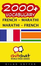 2000+ French - Marathi Marathi - French Vocabulary