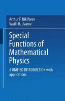 Special Functions of Mathematical Physics PDF
