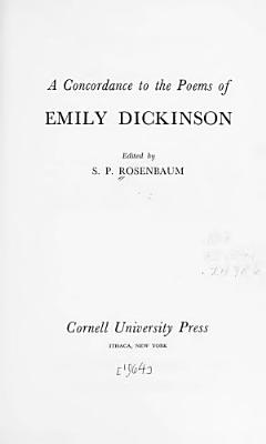 A Concordance to the Poems of Emily Dickinson