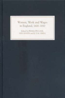 Women  Work  and Wages in England  1600 1850 PDF