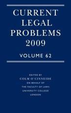 Current Legal Problems 2009 PDF