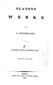 Platons Werke: Band 2