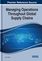 Managing Operations Throughout Global Supply Chains PDF