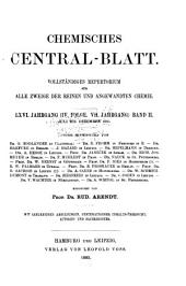 Chemisches Central-Blatt: Band 2;Band 7;Band 66,Ausgabe 2