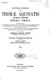 Doctoris Angelici Divi Thomae Aquinatis... opera omnia...: Tabula aurea, Volume 33