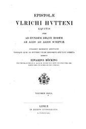 Ulrichs von Hutten Schriften