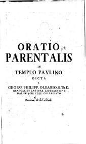 Oratio parentalis in templo Paulino dicta