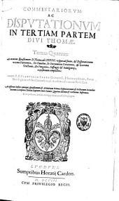 Commentariorum ac disputationum in tertiam partem divi Thomae editio postrema: Volume 2