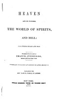 Heaven and Its Wonders  the World of Spirits  and Hell PDF