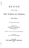 Heaven And Its Wonders The World Of Spirits And Hell